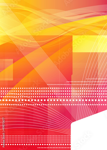 warm graphic abstract