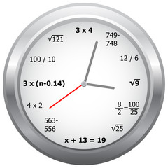 Mathematics Clock
