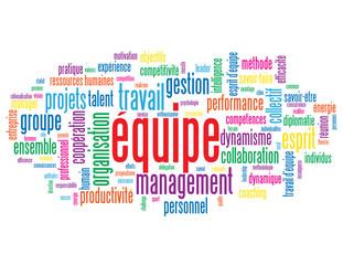 """Nuage de Tags """"EQUIPE"""" (travail esprit d'équipe gestion projets)"""