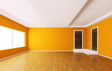 Leer orange interior 3d