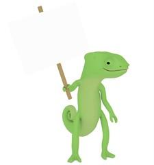 Un caméléon debout