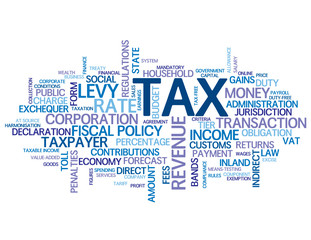 """TAX"" Tag Cloud (money gold finance payslip income taxes state)"