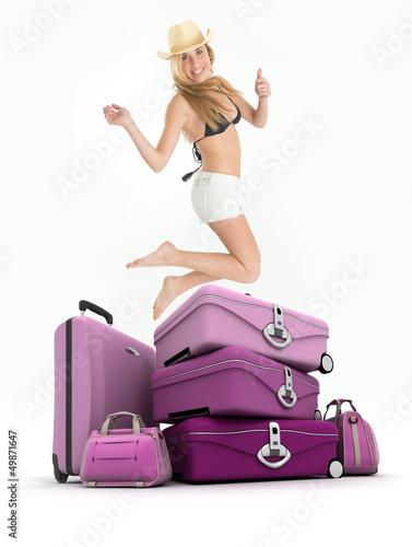 Celebrating vacation departure