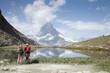 スイスアルプスのトレッキング