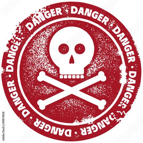 Danger Warning Stamp