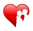 Herz Personen Küssen