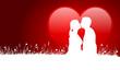 Karte Herz Personen Küssen