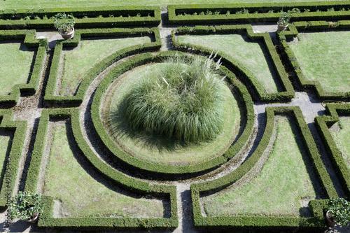 green geometric garden