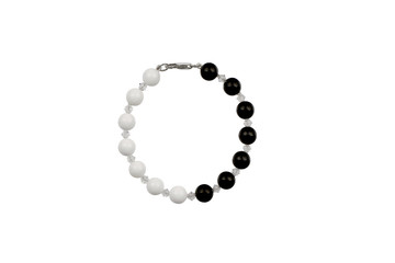 pearl bracelet, isolated on white