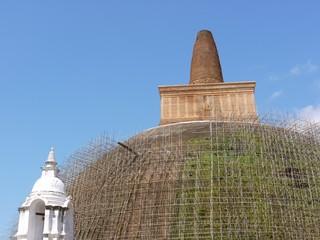 Restoration of the Abhayagiri dagoba (Stupa) in Anuradhapura