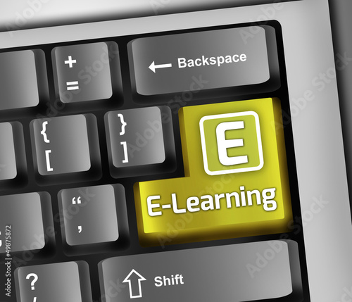 "Keyboard Illustration ""E-Learning"""