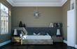 modernes Schlafzimmer braun