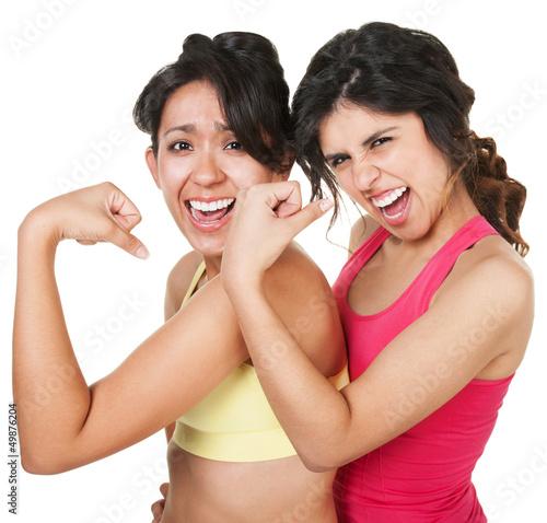 Confident Fit Women Flexing