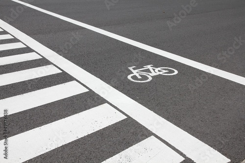 Cycling lane in Japan