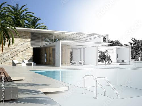Villa CAD 3D Rendering 2