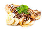 Fototapety Crepes With Banana And Chocolate