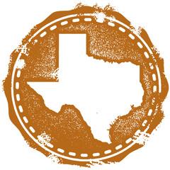 Vintage Style Texas Stamp