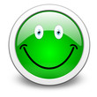 green smiley, vector