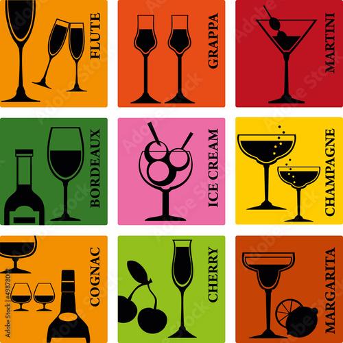 耳目一新聚会茶点葡萄酒设置象徵载体周年酒吧酒精鸡尾酒饮料香槟see