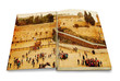 opened book with a picture Western Wall, Jerusalem