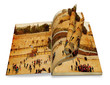 opened  book with  curl,  Western Wall,Temple Mount, Jerusalem