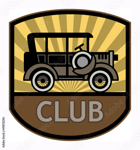 Retro Club label, vector illustration