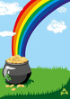 A pot of gold at the end of the rainbow