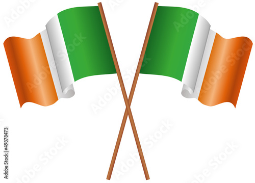 Illustration of two flags of the Ireland