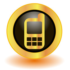 Golg mobile phone button