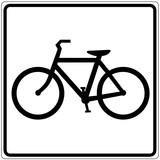 Schild weiß - Fahrradverleih