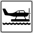 Schild weiß - Wasserflugzeug