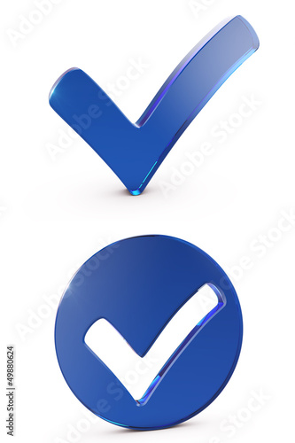 Blue shiny checkmark