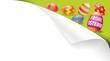 Ecke Papier Frohe Ostern mit Eiern