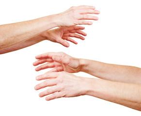 Hände greifen nacheinander