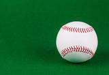 baseball ball on green background