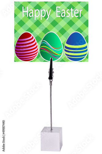 easter egg on green Paper card Memo Holder