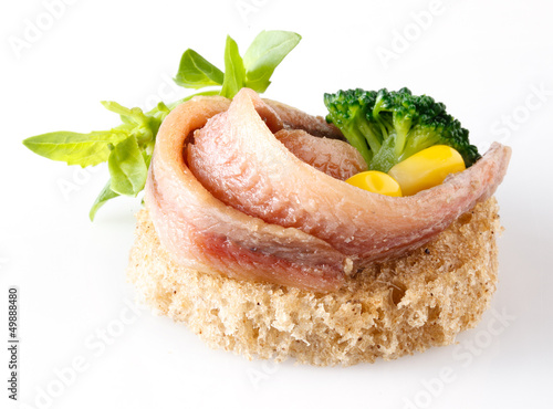 Anchovy with vegetables