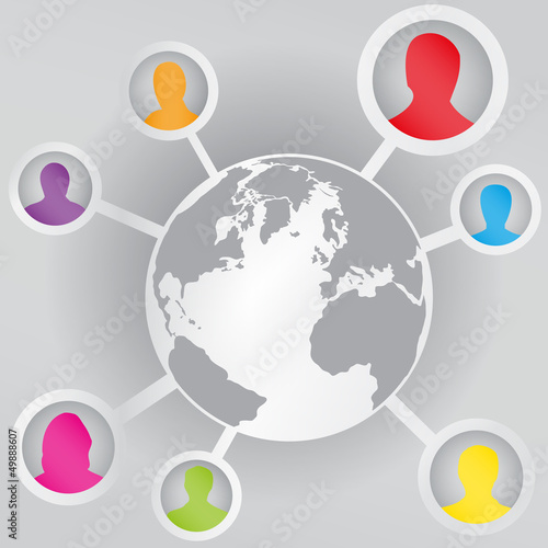 Social connections in the world