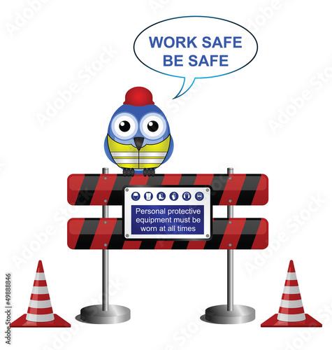 Construction work safe message