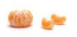 orange fruit segments isolated on white background
