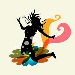 Woman creative energy