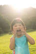 Child shouting in park