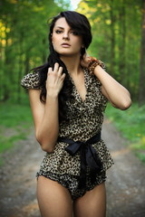 Beautiful woman in nature