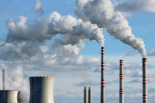 polluted smoke from coal power plant