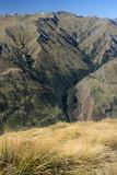 mountain slopes in Mount Aspiring National Park poster