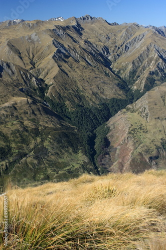 mountain slopes in Mount Aspiring National Park