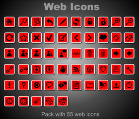 Pack Red Web Icons
