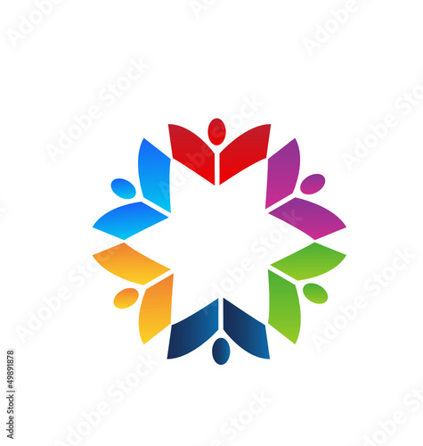 Teamwork books colorful logo