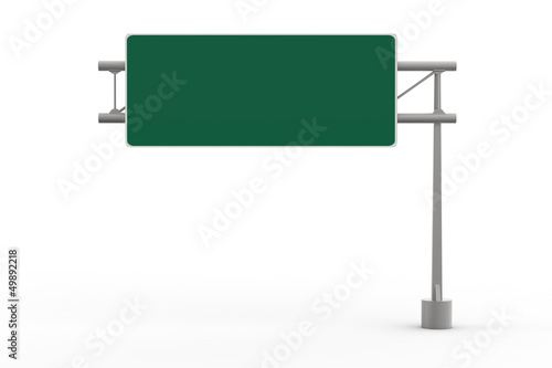 Green Blank Freeway Sign