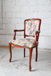 Classic vintage old wooden chair